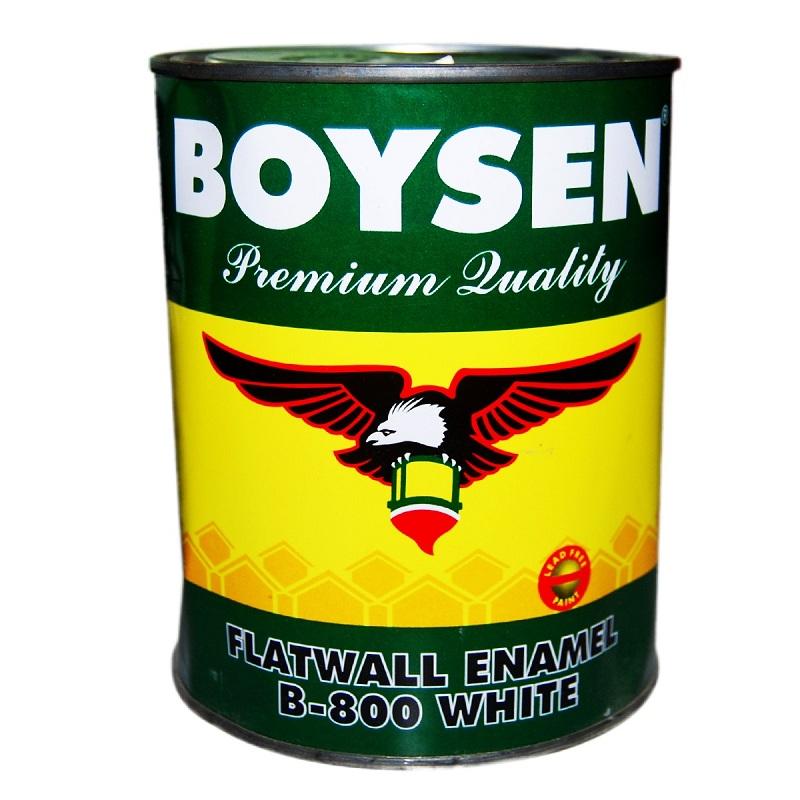 Boysen Flat Wall Enamel White B 800 Silver Rose Hardware