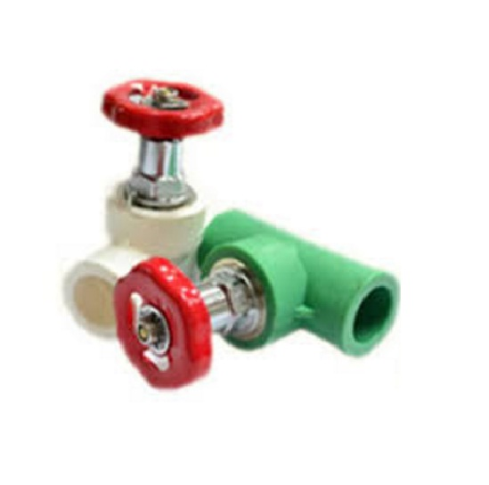 Ppr gate valve silver rose hardware